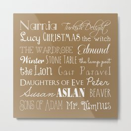 Narnia Celebration - Tortilla Metal Print