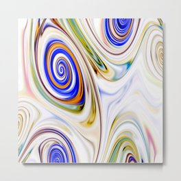 Waves and swirls, abstract, patterns piece no 13 Metal Print