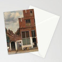 Johannes Vermeer - The little street Stationery Cards