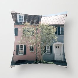 Charming Chalmers Street, Charleston, SC Throw Pillow