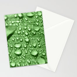 Morning dew water drop on leaf fresh nature full frame Stationery Cards