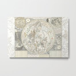 Star map of the Southern Starry Sky Metal Print