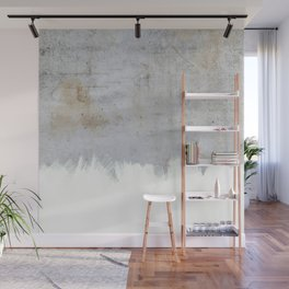 Painting on Raw Concrete Wall Mural