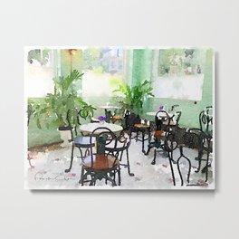 Watercolor Cafe Metal Print