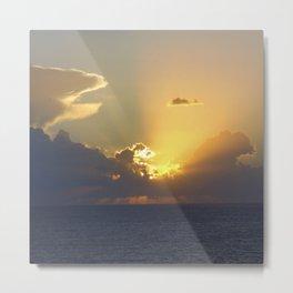 Sunset, Amalphi coast, Italy 2 Metal Print
