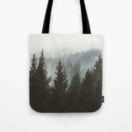 Forest Fog Mountain IV - Wanderlust Nature Photography Tote Bag