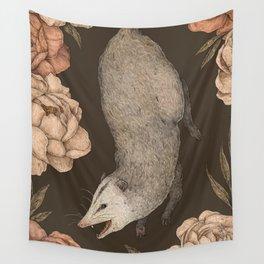 The Opossum and Peonies Wandbehang