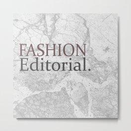 Fashion City: Fashion Editorial Metal Print