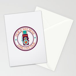 Film is not dead, long live film Stationery Cards