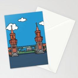 Oberbaum Bridge in Berlin Stationery Cards