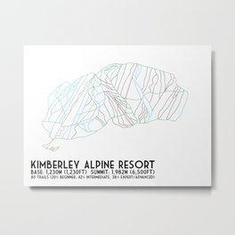Kimberley Alpine Resort - BC, Canada - Minimalist Winter Trail Art Metal Print