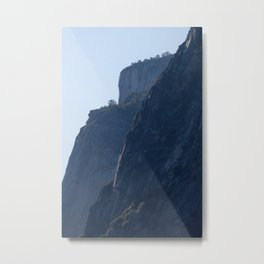 Mountains against the Sky Metal Print