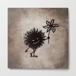 Evil Bug Gives Flower Metal Print