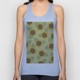 Vintage Sunflowers Unisex Tank Top