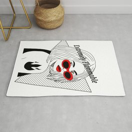 Woman extremely flammable Rug