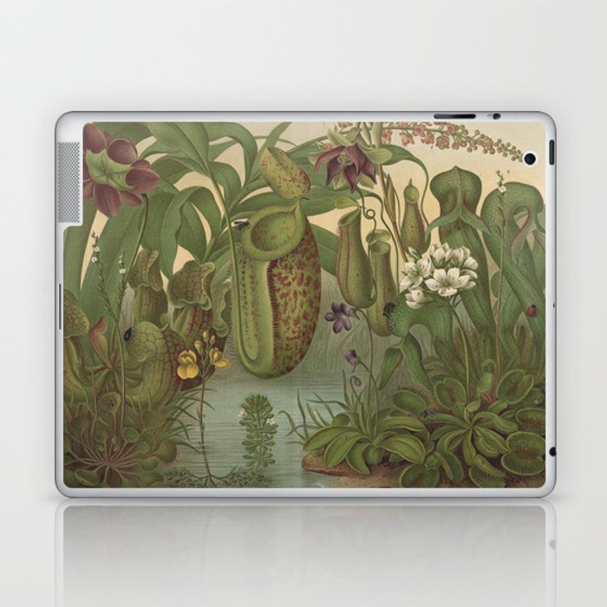 Antique Carnivorous Plants Lithograph Laptop & iPad Skin