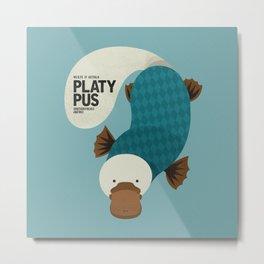Hello Platypus Metal Print