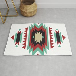 Geometric Abstract Tribal Indian Pattern Rug