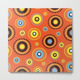 Aussie Pattern1 Metal Print