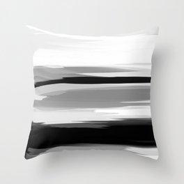Soft Determination Black & White Throw Pillow