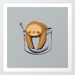 Sloth in a Pocket Kunstdrucke