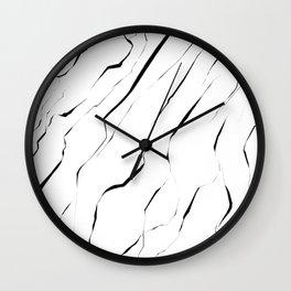 Modern Unique Black White Marble Pattern Wall Clock