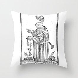 Hermetica Moderna - The Weasel Monk Throw Pillow