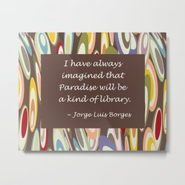 Paradise - The Library Metal Print