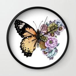 Butterfly in Bloom II Wall Clock