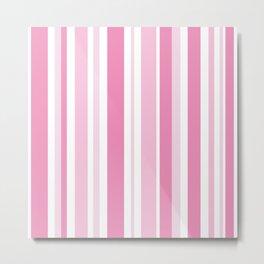 Pink Stripes Metal Print