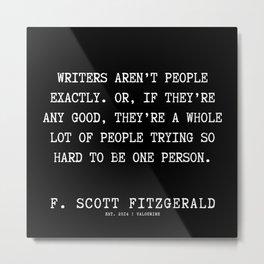 41   | F.Scott Fitzgerald Quotes | 191205 Metal Print