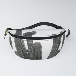 Black and White Cactus Fanny Pack