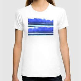 Wave Stripes Abstract Seascape T-shirt