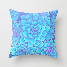 An Ocean of Succulents Throw Pillow