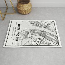 New York Light City Map Rug