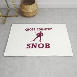 Cross Country Ski Snob Rug