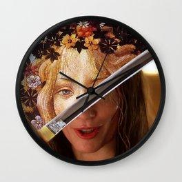 Kill Bill's Elle Driver & Botticelli's Flora Wall Clock
