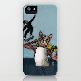 Stingray & Sneakers, Skate Cats iPhone Case