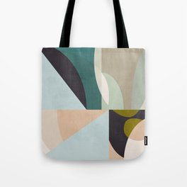 shapes geometric art mid century Tote Bag