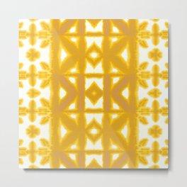 Yellow Pima Shibori Metal Print