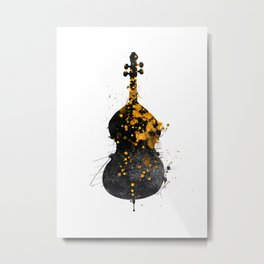 double bass music art #doublebass Metal Print
