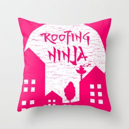 Roofing Ninja - Work-Profession design   Roofer Gift Throw Pillow