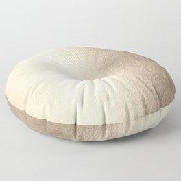 White Gold Sands Floor Pillow