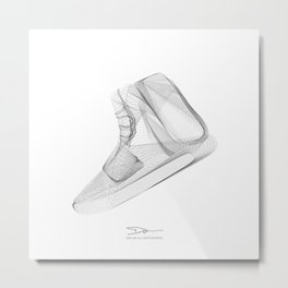 YEEZYS 750 Boost Sneakers Art Metal Print