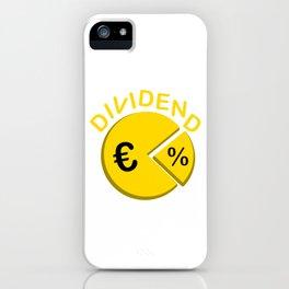 Dividend Euro Money Stocks Investor Capitalism Gift iPhone Case