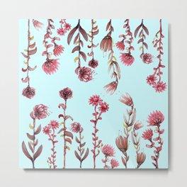 flowers on blue Metal Print