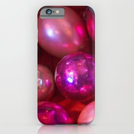 Pink Christmas iPhone Case