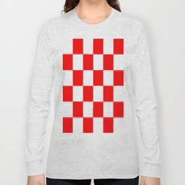 Red & White Checkerboard Long Sleeve T-shirt