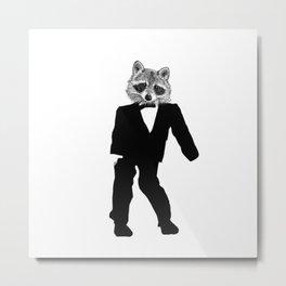 Twisted Raccoon Metal Print