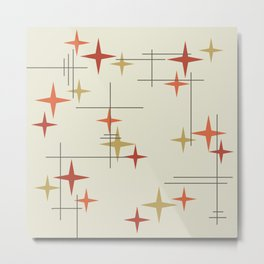 Mid Century Modern Stars Metal Print